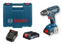Bosch GSB 18-2-Li Plus Professional aku příklepová vrtačka 06019E7120, kufr, 2x2,0Ah Li-Ion, nabíječka